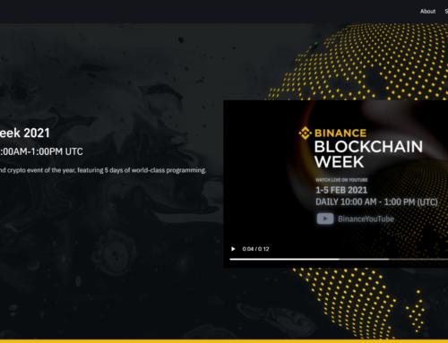 Binance Blockchain Week 2021 The Future Is Now